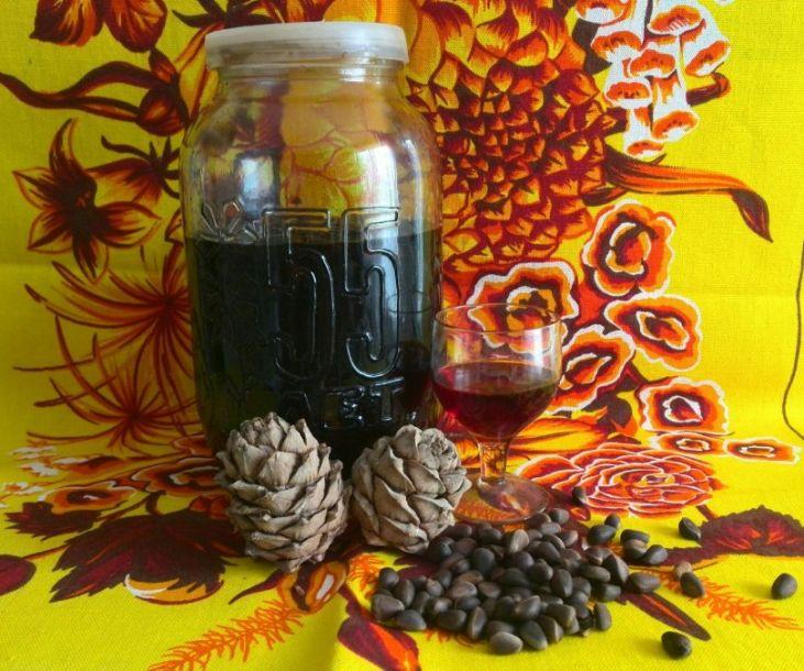 Настойка на скорлупе кедровых орехов: рецепты на водке, на спирту, на самогоне
